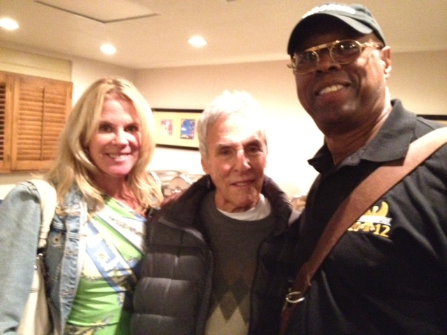 Burt Bacharach and wife with EWF tour manager Ralph Dickerson.